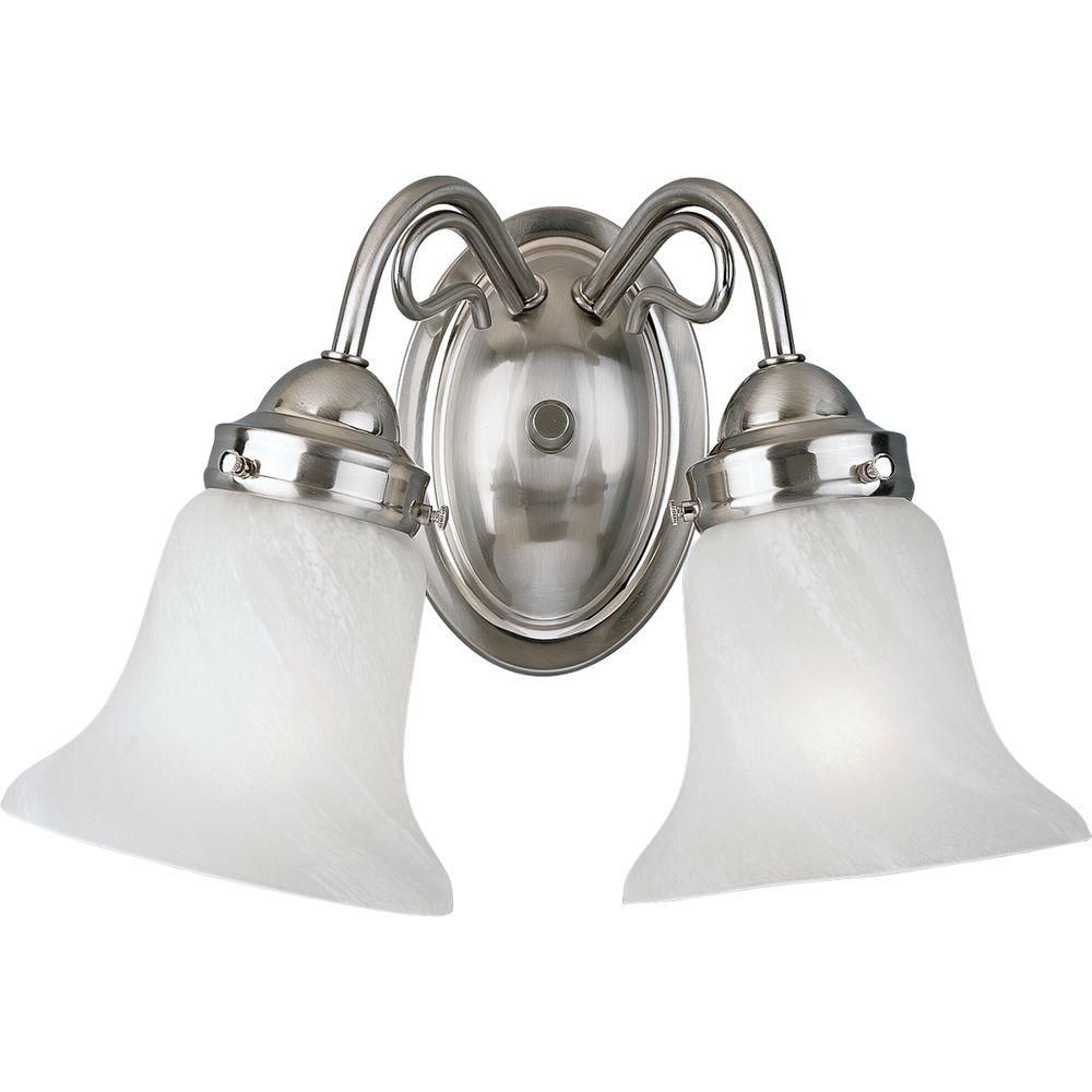 Bedford Collection Brushed Nickel 2-light Wall Bracket 7.85247E 11 Canada Discount