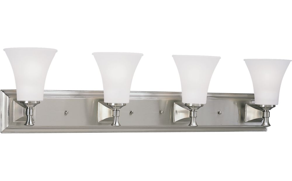Fairfield Collection Brushed Nickel 4-light Wall Bracket