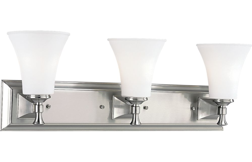 Fairfield Collection Brushed Nickel 3-light Wall Bracket