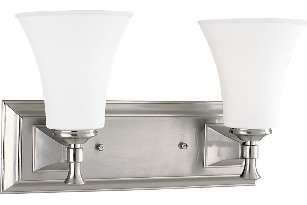 Fairfield Collection Brushed Nickel 2-light Wall Bracket