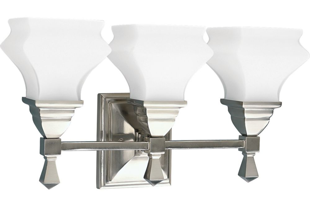 Bratenahl Collection Brushed Nickel 3-light Wall Bracket