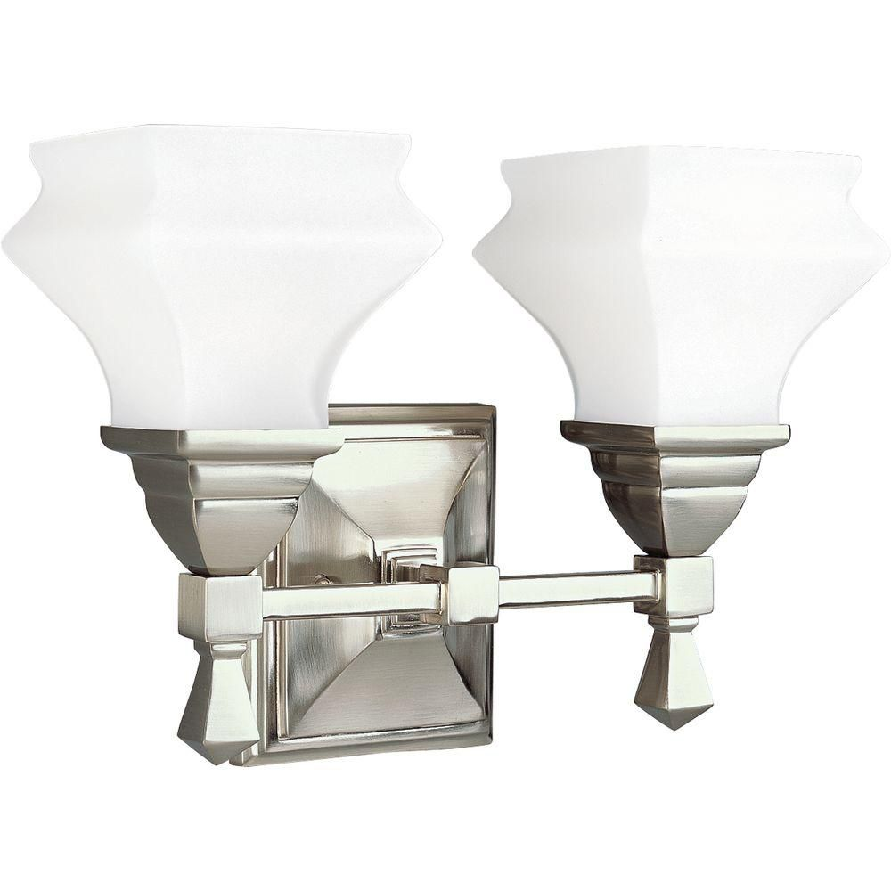 Bratenahl Collection Brushed Nickel 2-light Wall Bracket