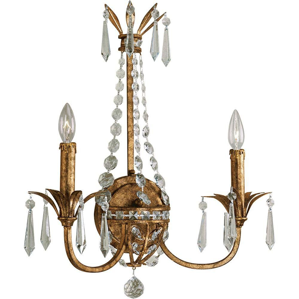 Palais Collection Imperial Gold 2-light Wall Sconce