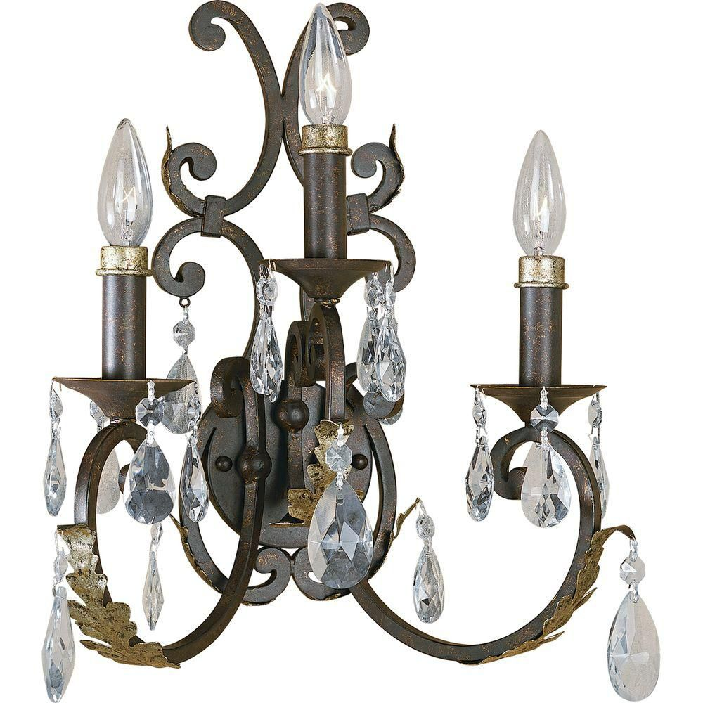 Savona Collection Cognac 3-light Wall Sconce