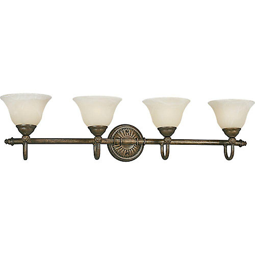 Savannah Collection Burnished Chestnut 4-light Wall Bracket