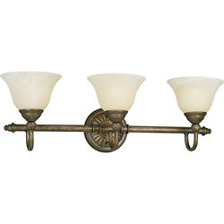 Progress Lighting Savannah Collection Burnished Chestnut 3-light Wall Bracket