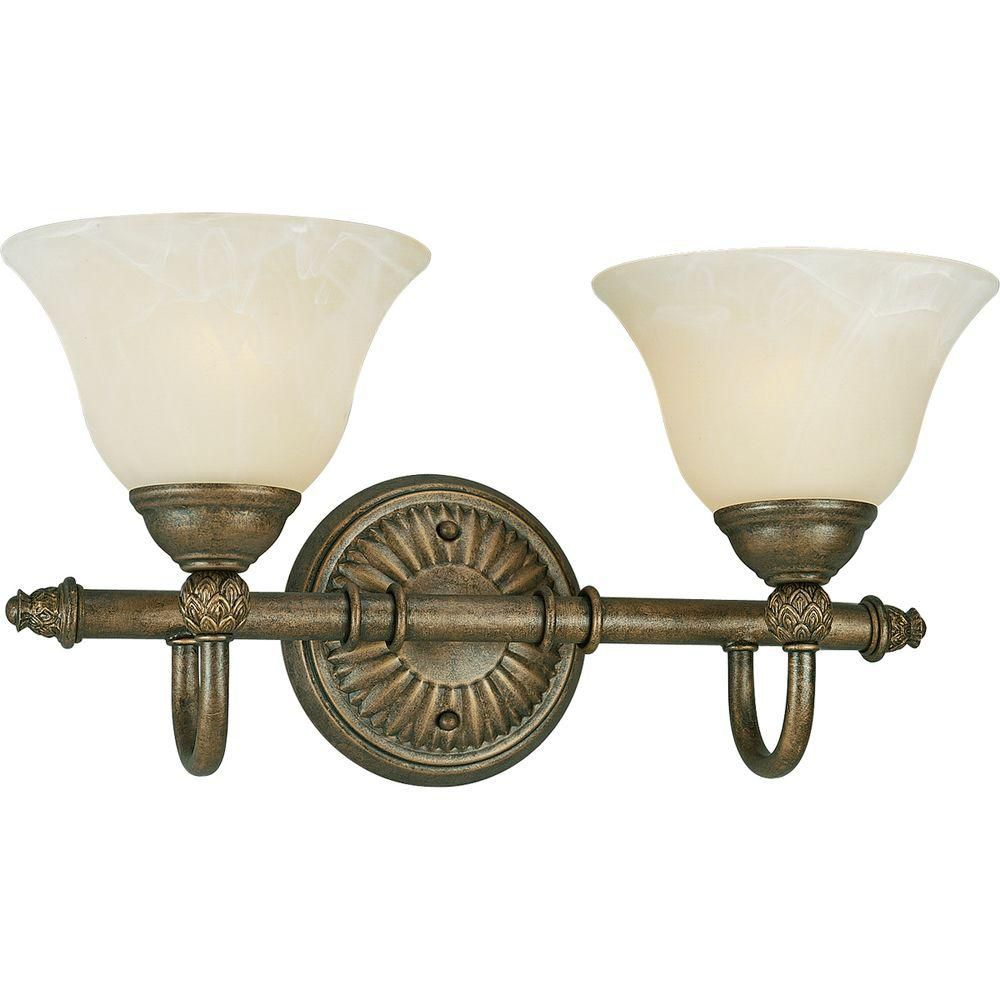 Savannah Collection Burnished Chestnut 2-light Wall Bracket