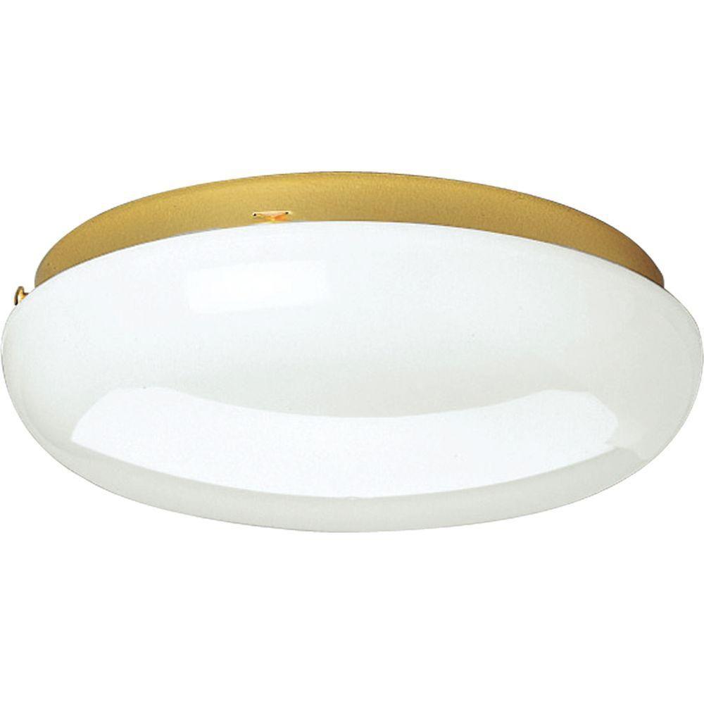 Progress Lighting Polished Brass 2-light Fluorescent Fixture