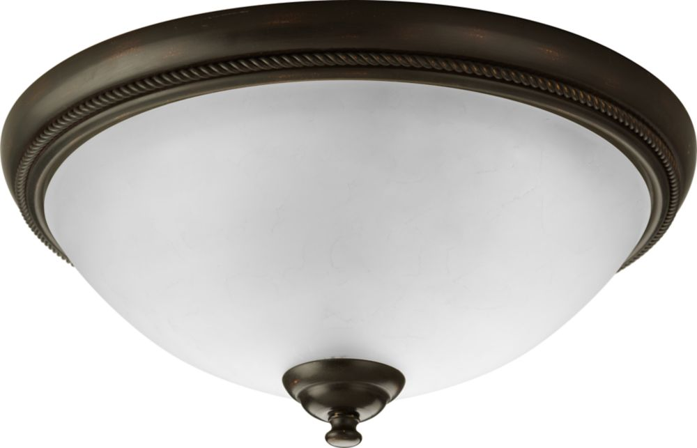 Pavilion Collection Antique Bronze 2-light Flushmount