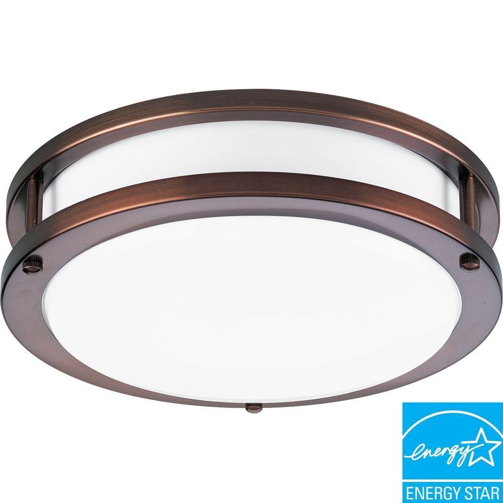 Urban Bronze 1-light Flushmount