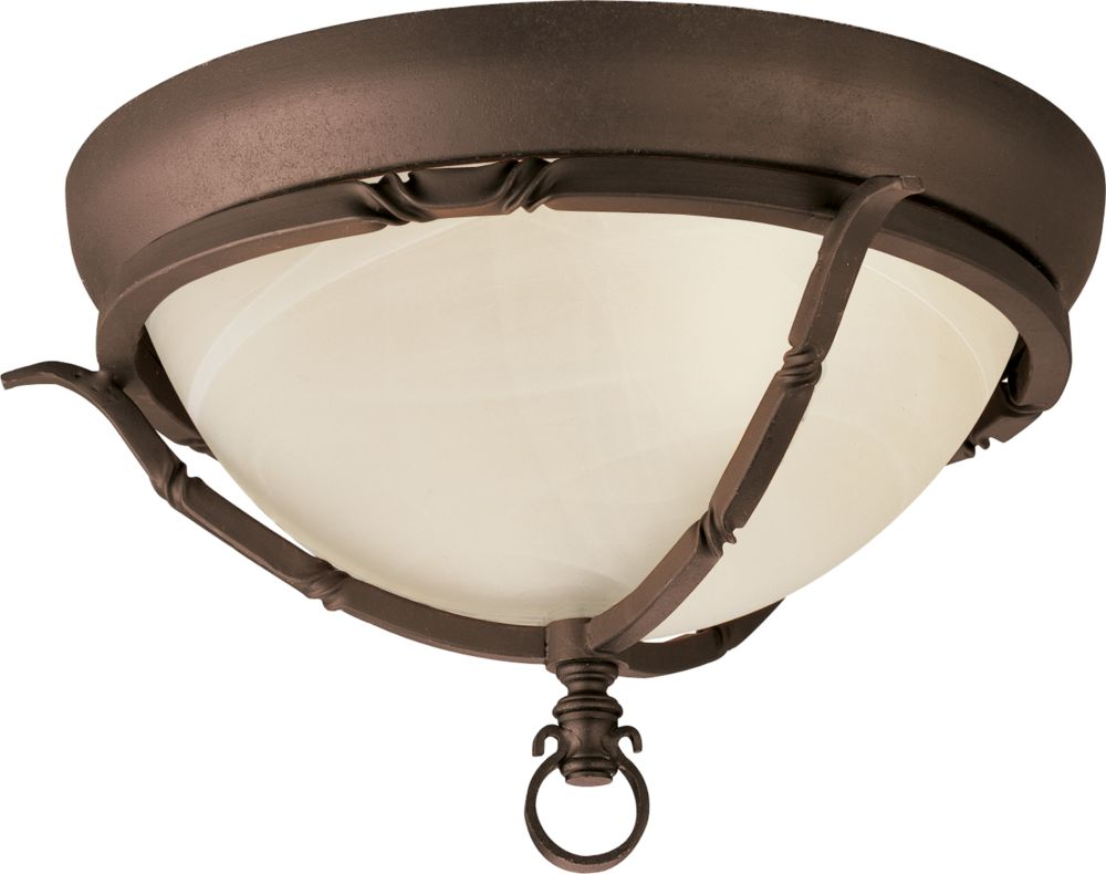 Santiago Collection Roasted Java 2-light Flushmount