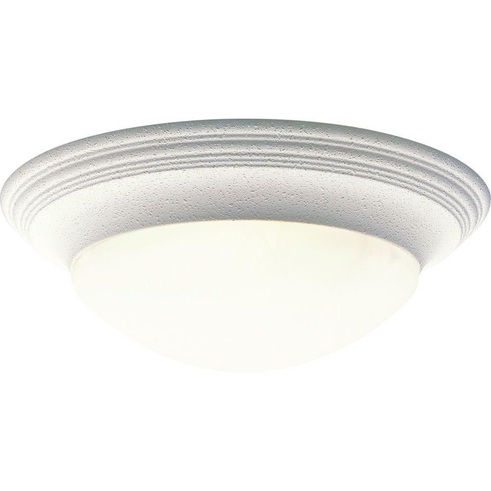 White 3-light Flushmount