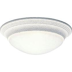 Progress Lighting Alabaster Glass Collection White 1-light Flushmount