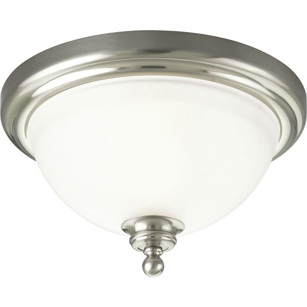 Madison Collection Brushed Nickel 1-light Flushmount