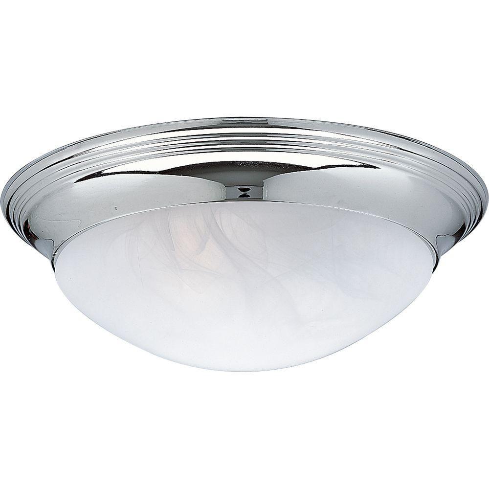 Chrome 3-light Flushmount