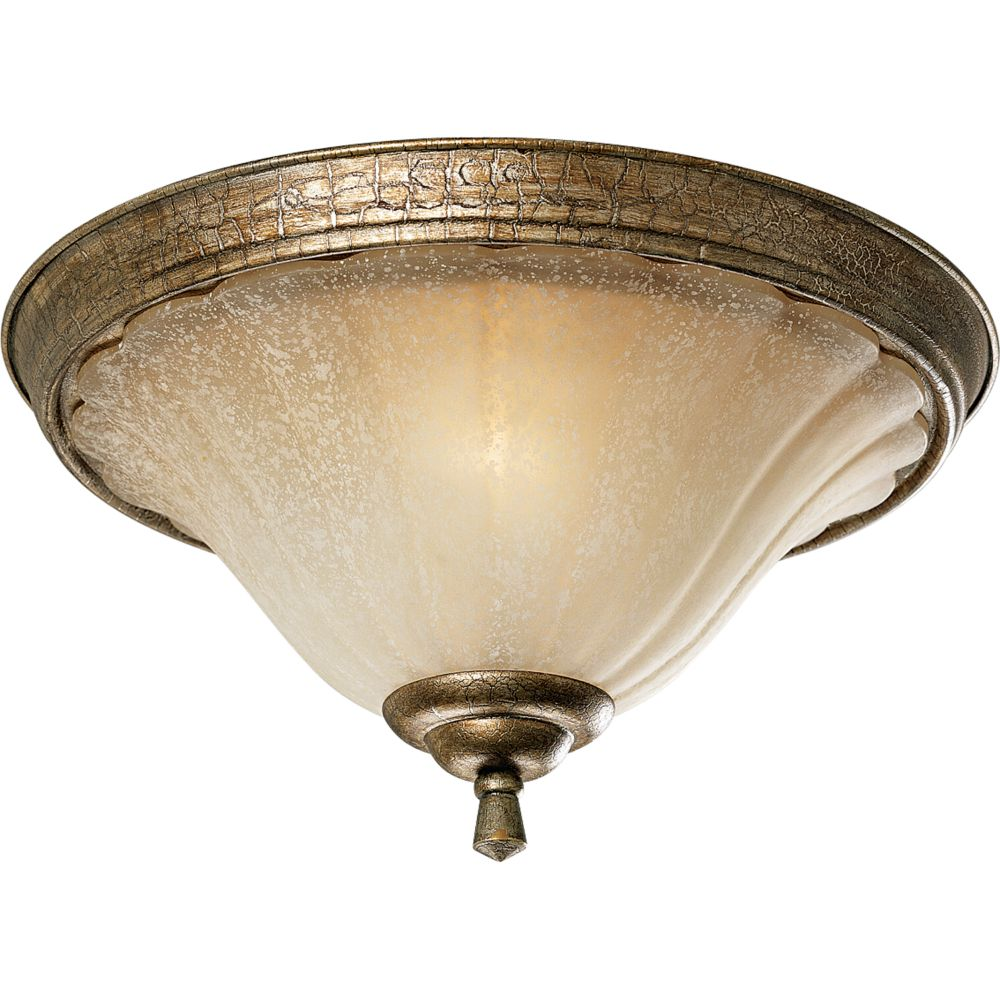 Le Jardin Collection Biscay Crackle 2-light Flushmount