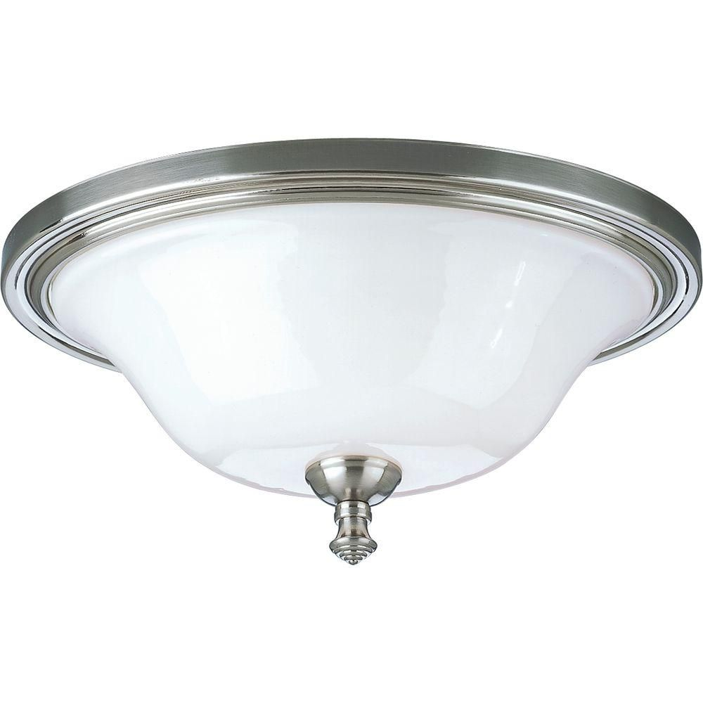 Victorian Collection Brushed Nickel 2-light Flushmount