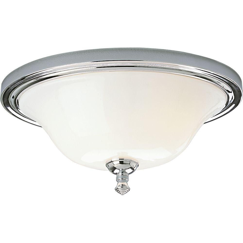 Victorian Collection Chrome 2-light Flushmount