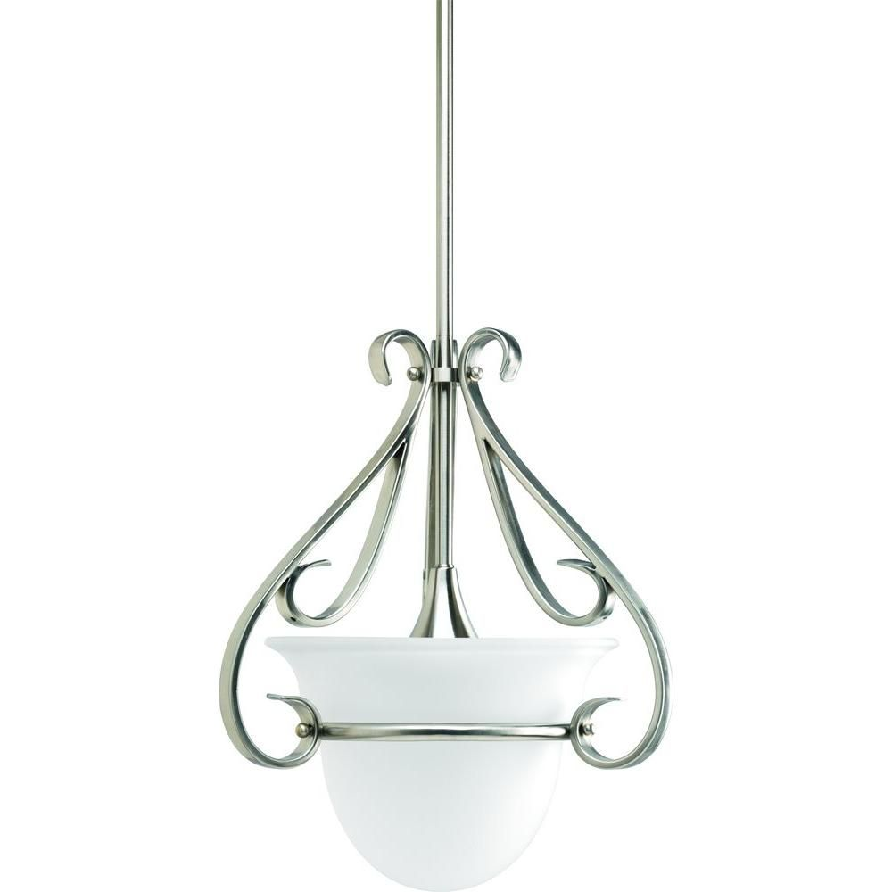 Torino Collection Brushed Nickel 1-light Mini-Pendant