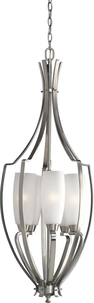 Wisten Collection Brushed Nickel 5-light Foyer Pendant