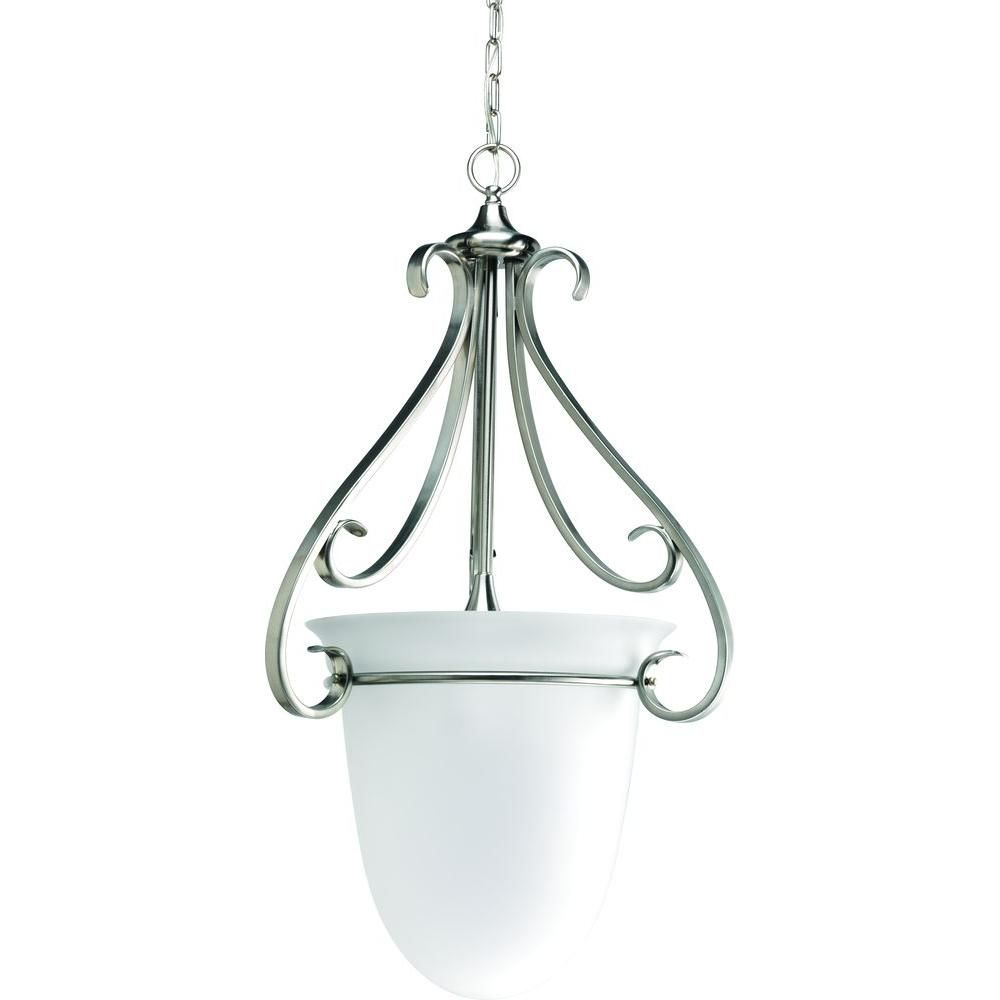 Torino Collection Brushed Nickel 3-light Foyer Pendant