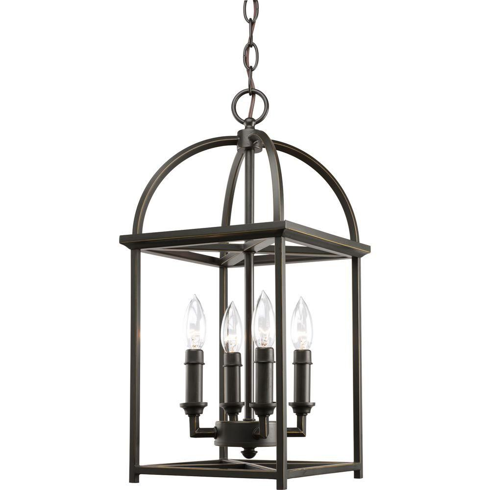 Piedmont Collection Antique Bronze 4-light Foyer Pendant