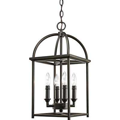 progress lighting piedmont collection antique bronze 4 light foyer