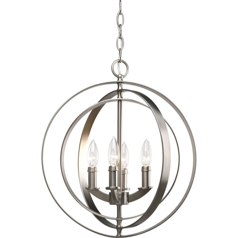 Home Depot Canada Foyer Lighting : Progress lighting equinox collection burnished silver