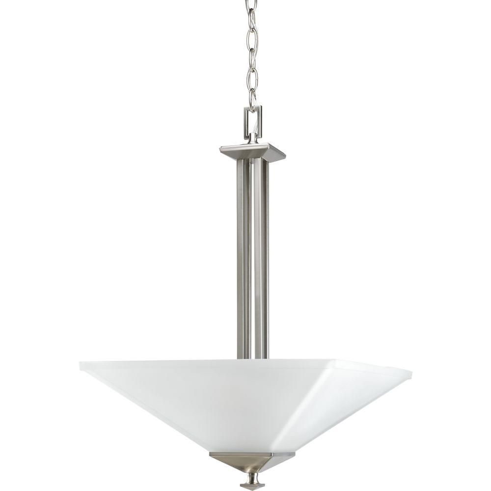North Park Collection Brushed Nickel 2-light Foyer Pendant