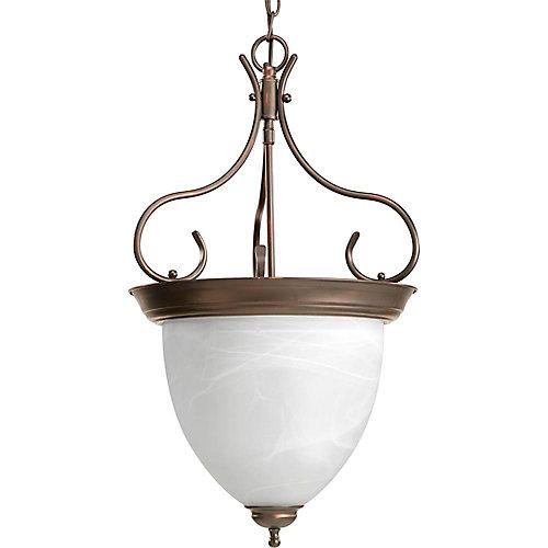Lustre de vestibule à 4 Lumières - fini Bronze à l'Ancienne