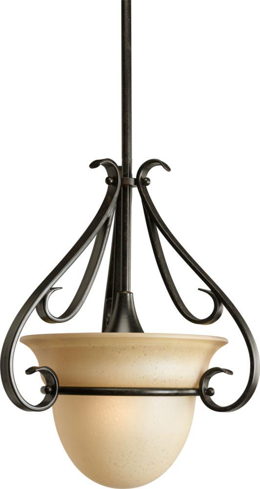 Torino Collection Forged Bronze 1-light Mini-Pendant