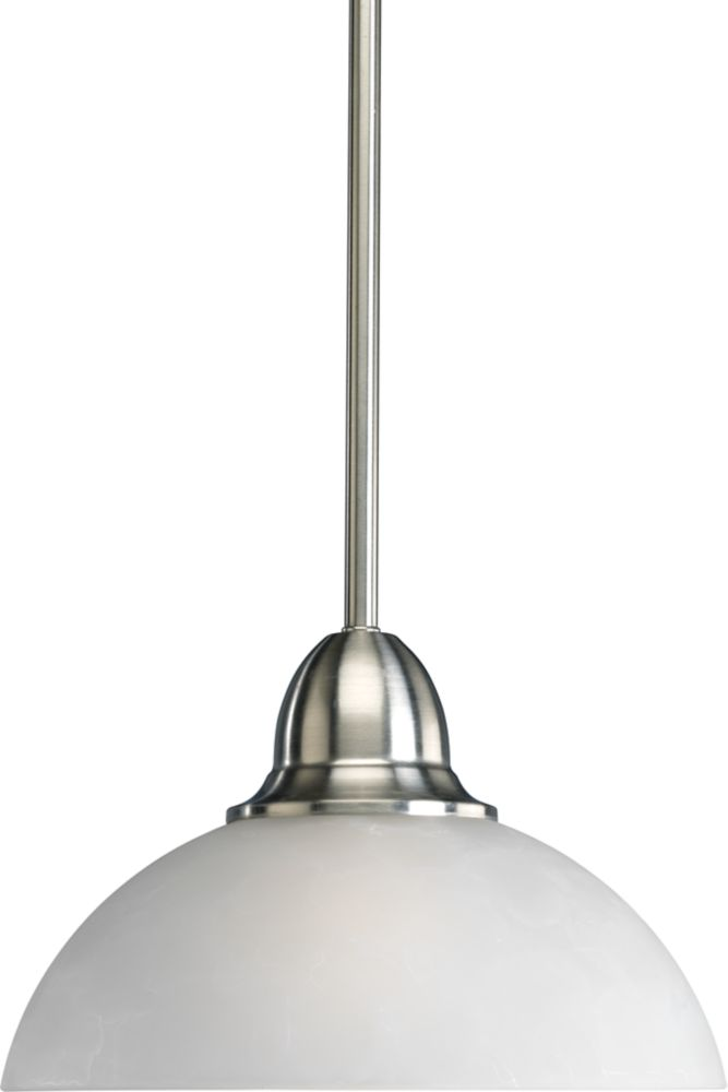 Pavilion Collection Brushed Nickel 1-light Mini-Pendant