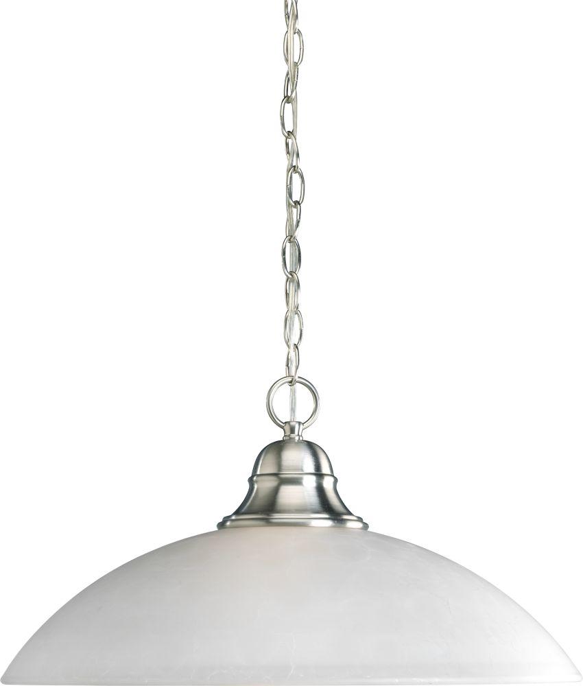 Pavilion Collection Brushed Nickel 1-light Pendant