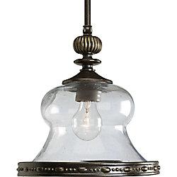 Progress Lighting Fiorentino Collection Forged Bronze 1-light Mini-Pendant