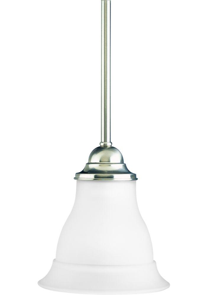 Mini suspension à 1 Lumière, Collection Trinity - fini Nickel Brossé