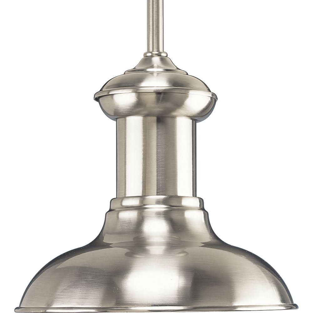 Brookside Collection Brushed Nickel 1-light Mini-Pendant