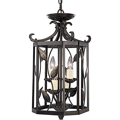 Eden Collection Forged Bronze 4 Light Foyer Pendant