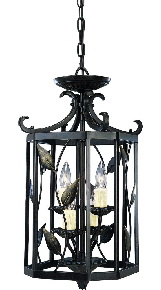 Eden Collection Forged Bronze 4-light Foyer Pendant