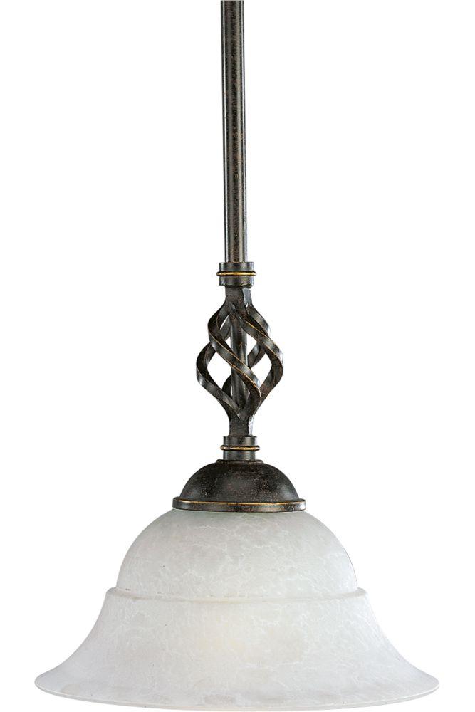 Mini suspension à 1 Lumière, Collection Melbourne - fini Espresso