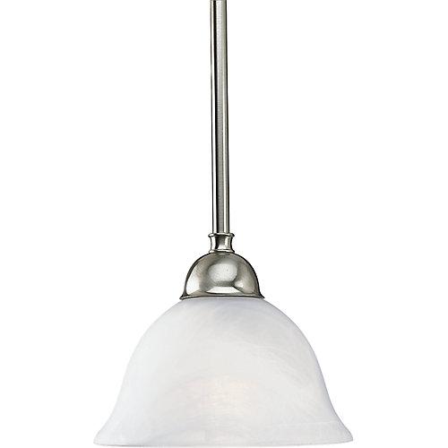 Avalon Collection Brushed Nickel 1-light Mini-Pendant