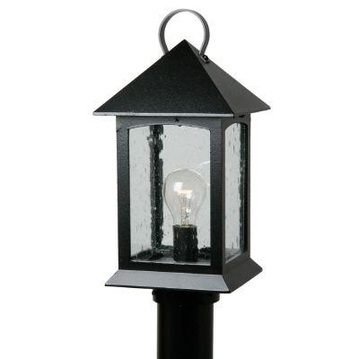 Héritage, luminaire sur poteau, panneaux de verre clairsemé, noir (poteau non-inclus)