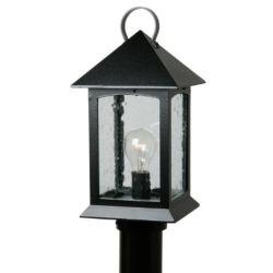 Snoc Héritage, luminaire sur poteau, panneaux de verre clairsemé, noir (poteau non-inclus)
