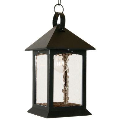Luminaire suspendu avec panneaux de verres clairesemés, collection Héritage, noir.