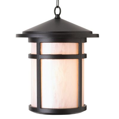 Residence Series, Black with Pearled Acrylic Diffuser, Suspended Chain Mount