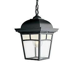 Luminaire suspendu avec panneaux de verre aux motifs givrés, collection Imagine, noir.