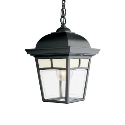 Imagine Series, Black with Frosted Pattern Glass Panels, Suspended Chain Mount