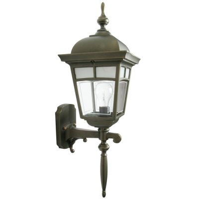 Imagine, Uplight Wall Mount, Frosted Pattern Glass Panels, Golden Green