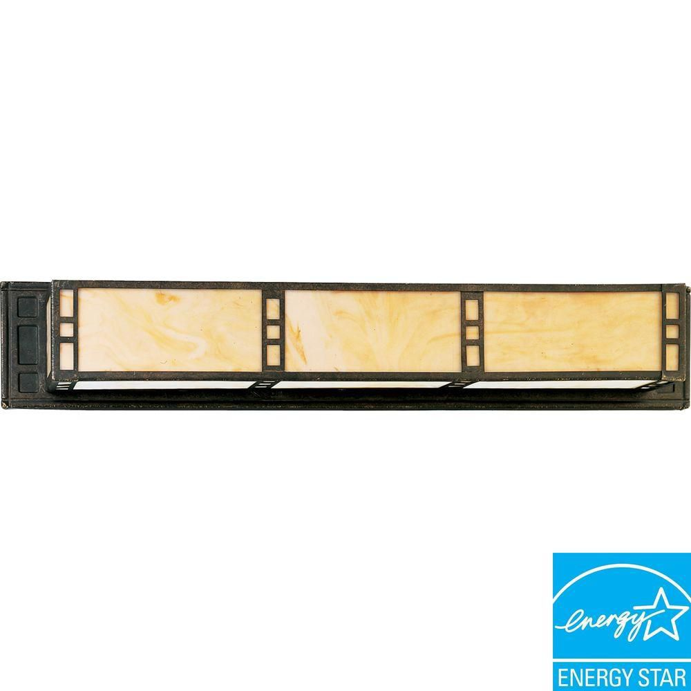 Arts and Crafts Collection Weathered Bronze 2-light Wall Bracket