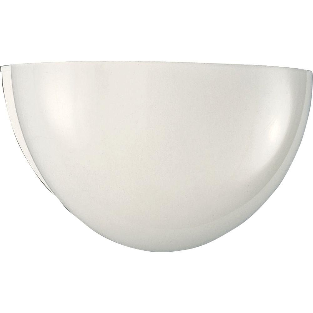 White 1-light Wall Sconce