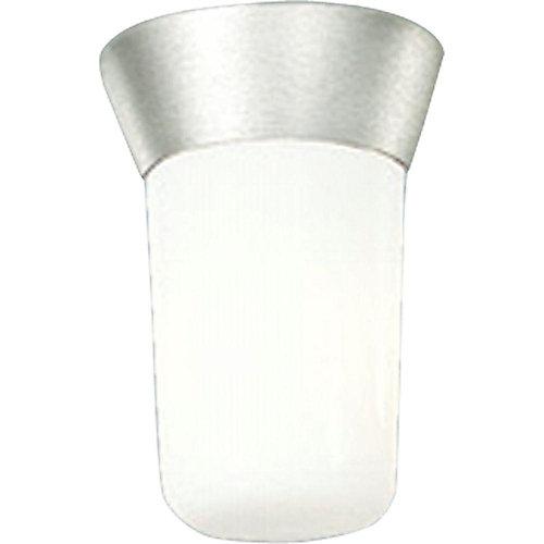 Satin Aluminum 1-light Outdoor Flushmount